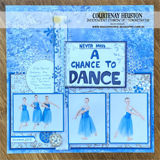 Stampin' Up! Dance Scrapbook Page by Courtenay Heuston