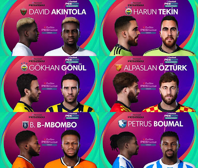 PES 2021 Turkey Süper Lig Facepack 11 by PES Football Turkey