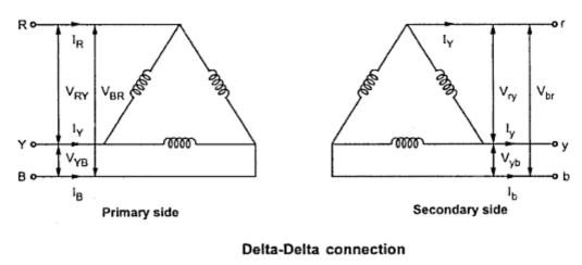 Delta-Delta Connection of 3-Phase Transformer ~ your
