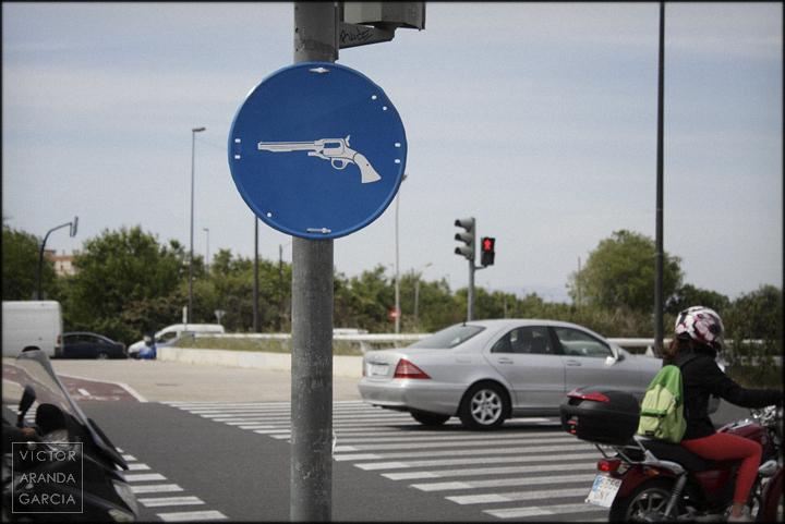 fotografía, señal, pistola, Valencia, Arriba Extraña