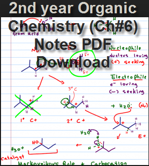 2nd year Organic Chemistry (Ch#6) Notes PDF Download - Ratta pk