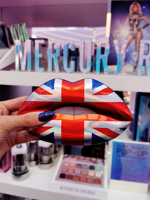 THE EXCLUSIVE LIMITED EDITION HUDA BEAUTY UNION JACK LIP KIT AT THE HUDA BEAUTY POP UP EVENT