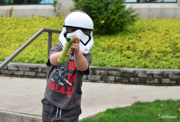 Storm Trooper costume marshmallow gun