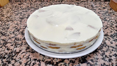 tarta de limon desmoldada