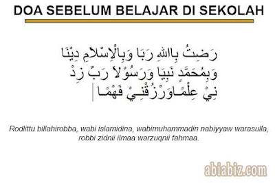 doa sebelum belajar di sekolah