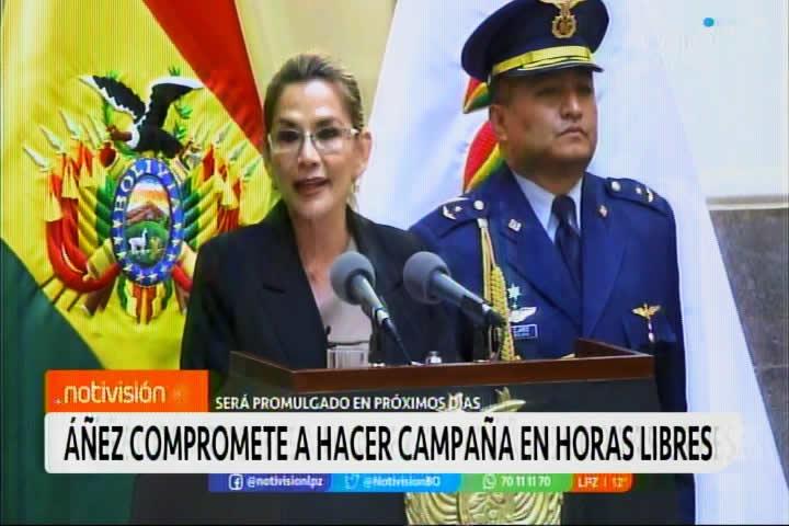 Presidenta Áñez: Me juego mi futuro por el futuro de todos los bolivianos