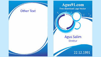 Template Blue Design Id Card Vector agus91