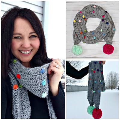 Free Crochet Pattern Confetti Scarf with Bobble Stitch ...