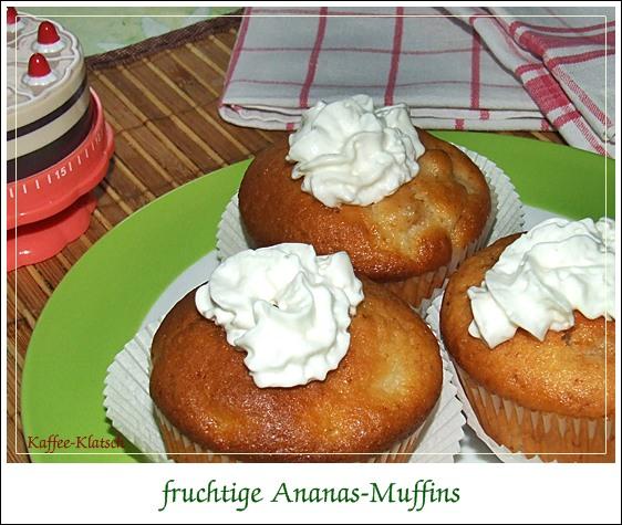 kaffeeklatsch einfache und schnelle rezepte fruchtige ananas muffins. Black Bedroom Furniture Sets. Home Design Ideas