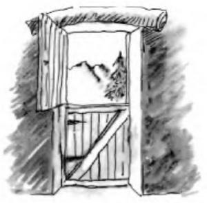 дверь из половинок