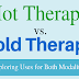 Hot Therapy vs. Cold Therapy #infographic