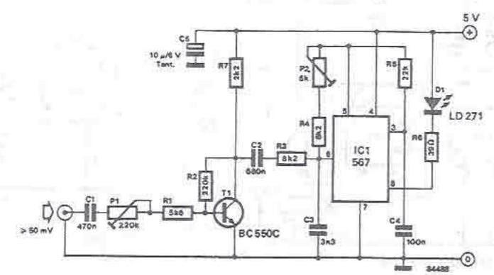 Infrarouge émetteur audio