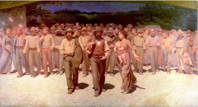 El cuarto estado (Il Quarto Stato), óleo de Giusseppe Pellizza (Museo del Novecento, Milán)