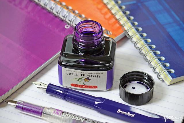 J. Herbin Violette Pensee ink