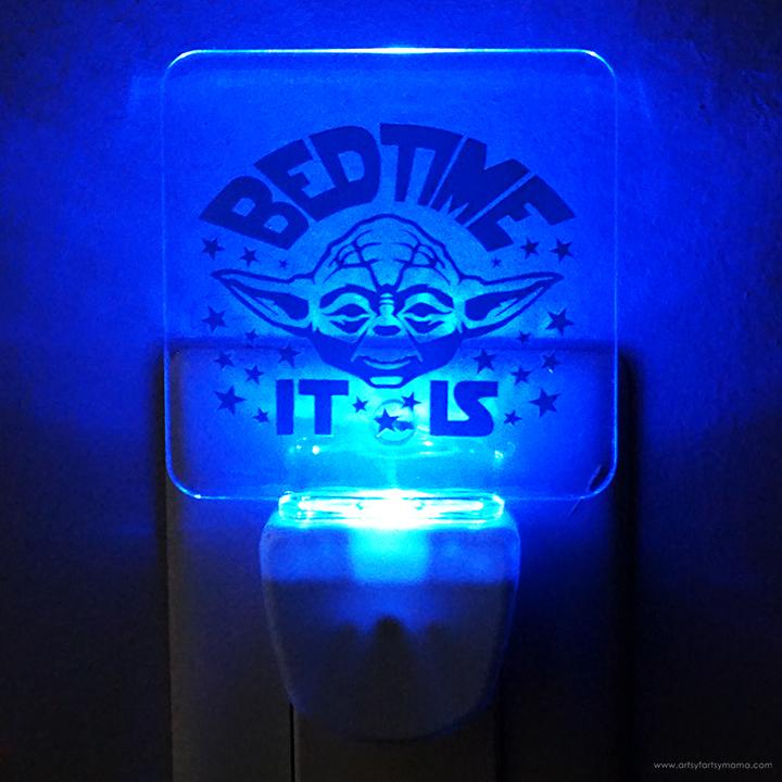 Yoda Night Light Plugged In