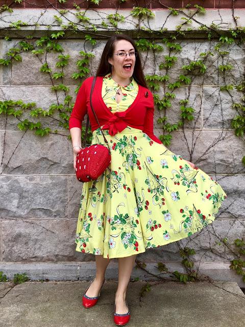 Trashy Diva Berry Chantilly Hopscotch dress