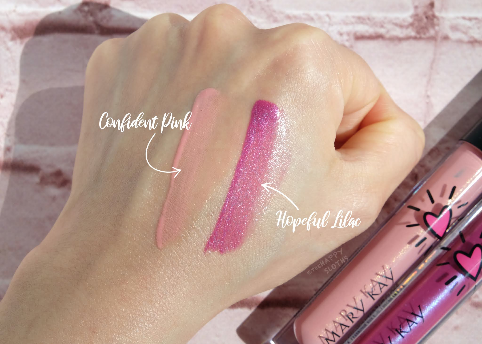 """Mary Kay   Limited Edition Unlimited Lip Gloss in """"Confident Pink"""" in """"Hopeful Lilac"""": Review and Swatches"""