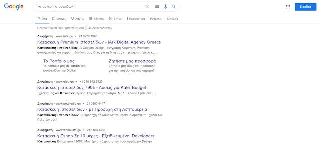 Παράδειγμα Google Ads