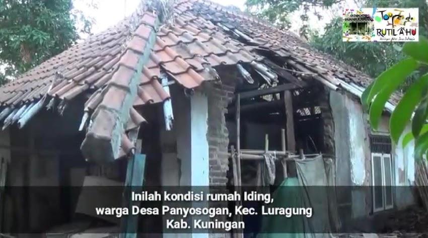Atap dan Tembok Roboh, Ayo Bantu Iding Perbaiki Rumahnya