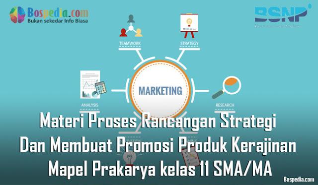 Materi Proses Rancangan Strategi Dan Membuat Promosi Produk Kerajinan Mapel Prakarya kelas 11 SMA/MA