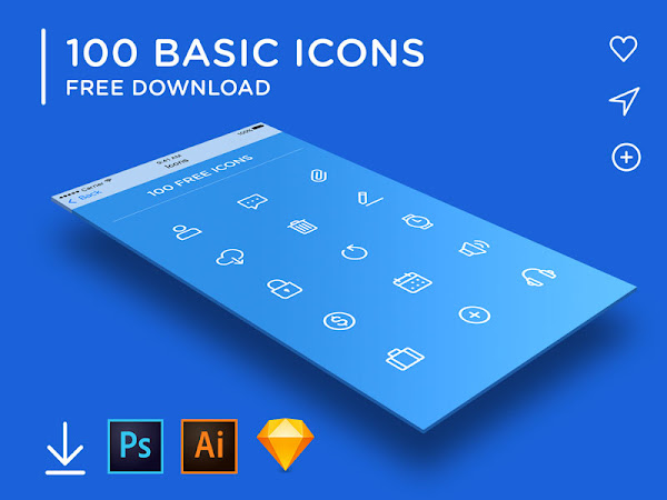 Download 100 Minimal Rounded Vector Icons Free