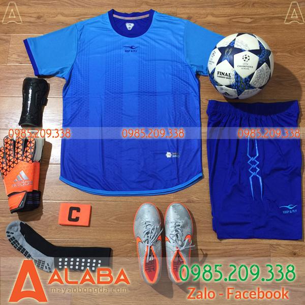 Áo bóng đá không logo màu xanh dương