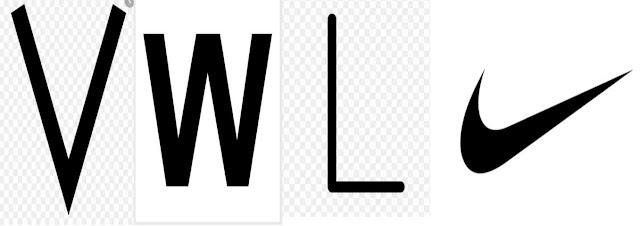 V, W, L o Swoosh (con el perdón de Nike).