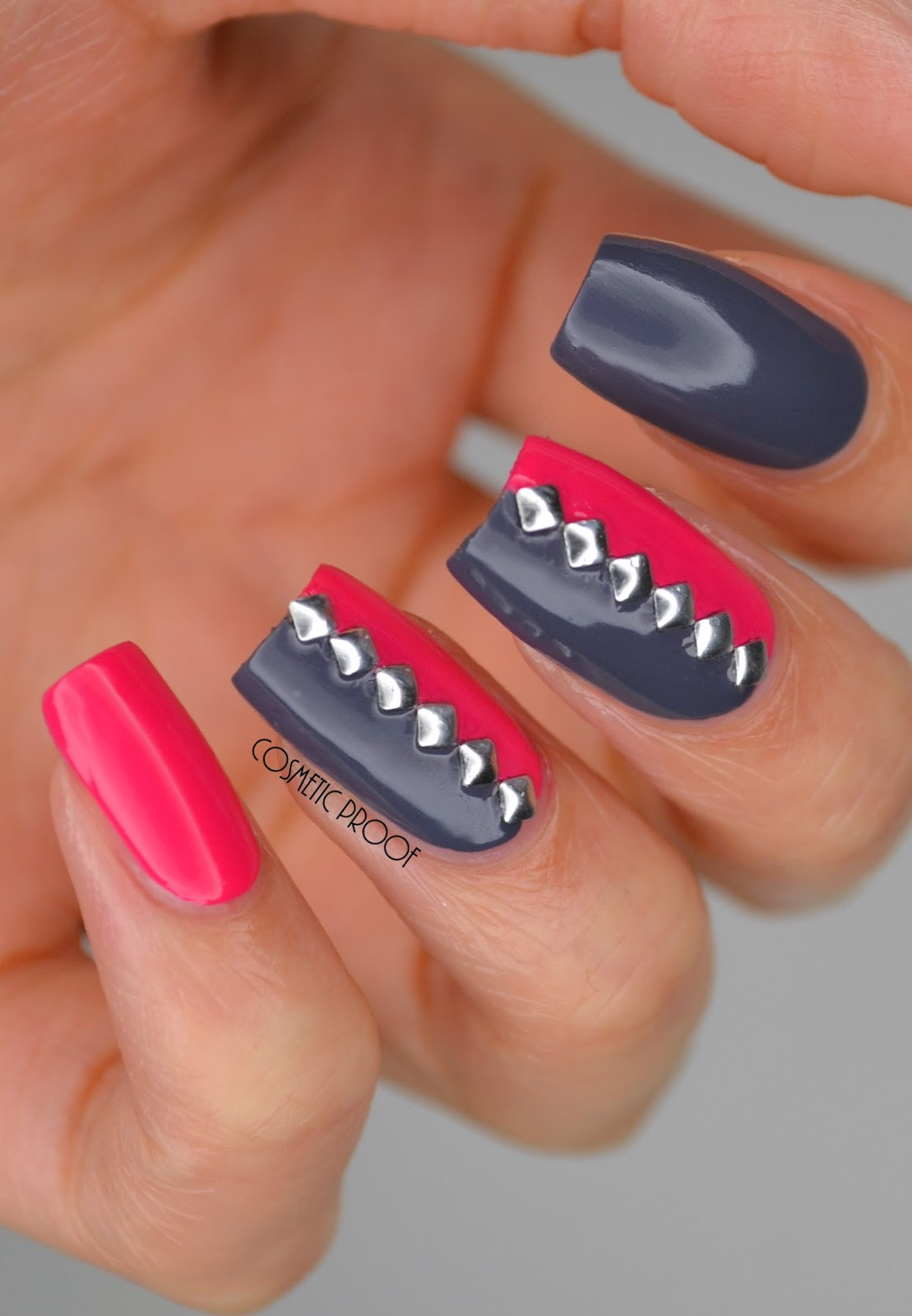 Nails pink grey and studded with duri cosmetics manimonday duri cosmetics is currently available in these locations and only in quebec and ontario in canada hopefully duri will be carried in all provinces soon prinsesfo Image collections