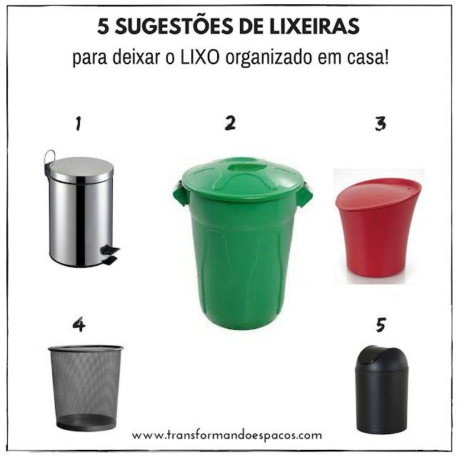 5 sugestões de lixeiras para organizar o lixo em casa