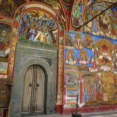 Frescos en san Juan de Rila