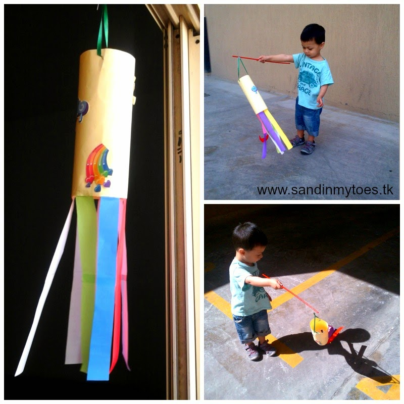 Toddler windsock activity - Sand In My Toes