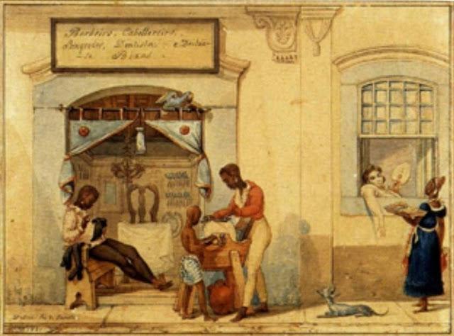 Loja de barbeiros 1821 – Jean Baptiste Debret