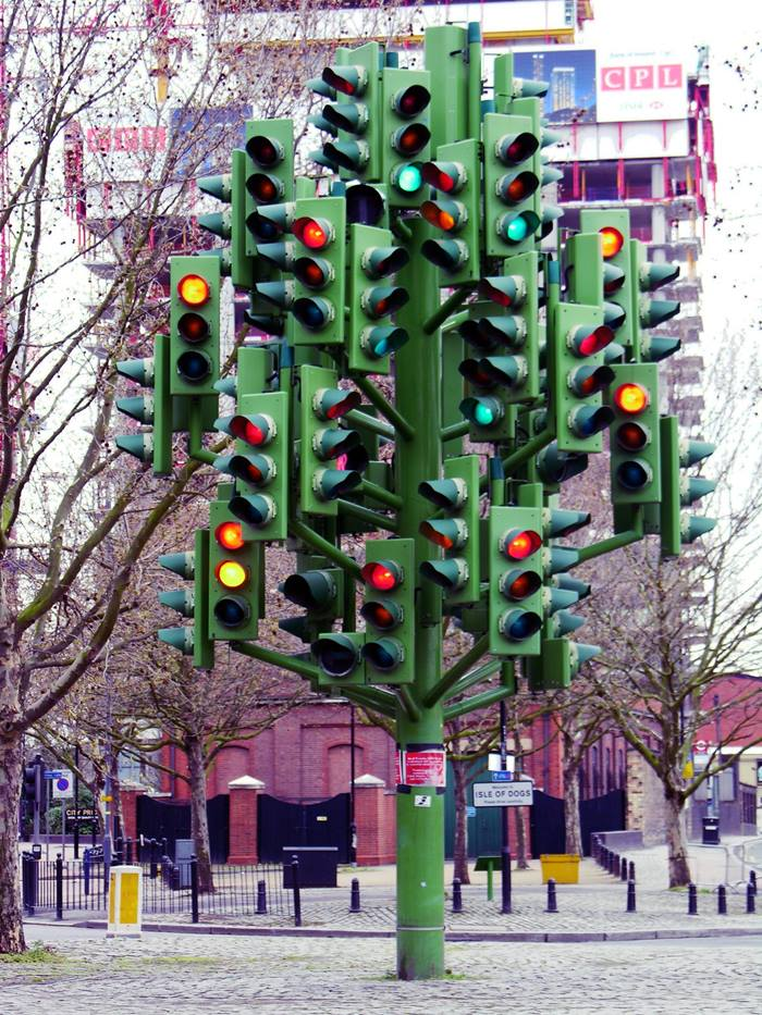 Traffic light tree in london