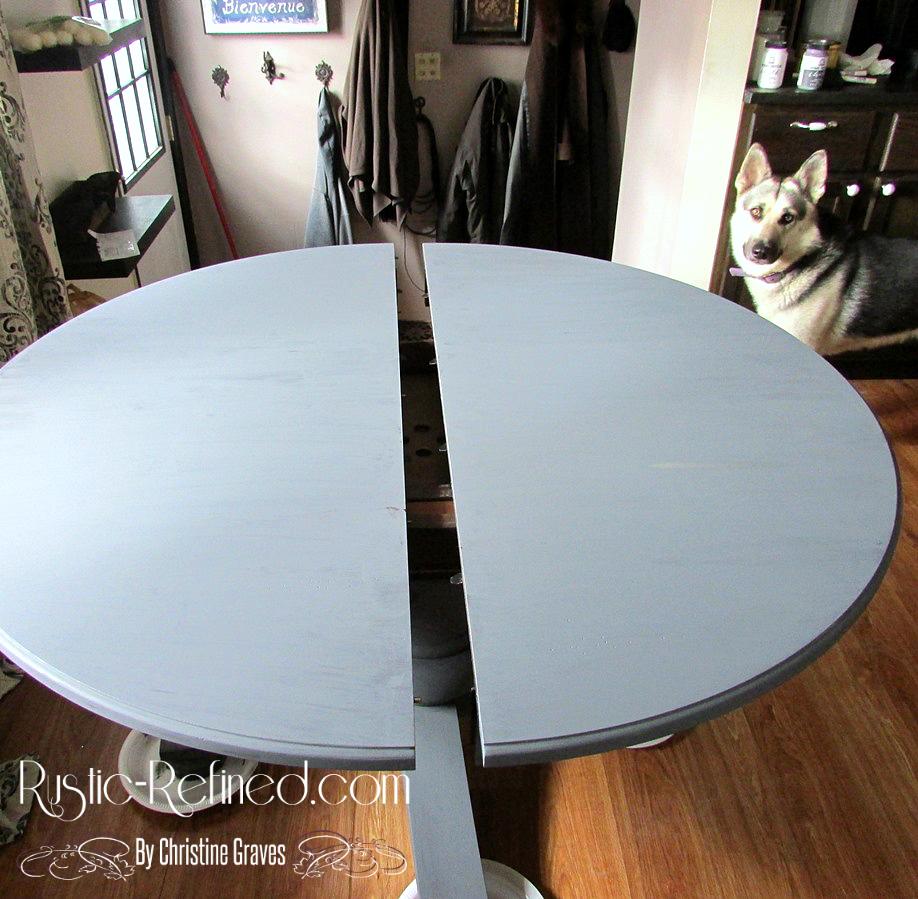 chalk painting kitchen table painting kitchen table Updating a kitchen table using chalk paint