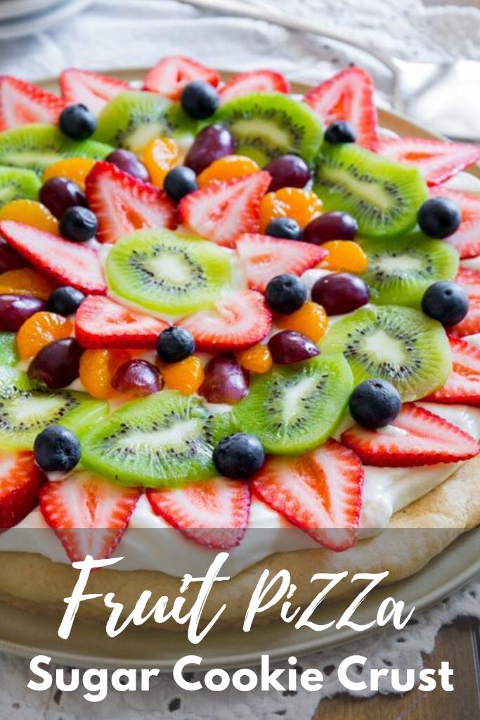 Fruit Pizza Sugar Cookie Crust