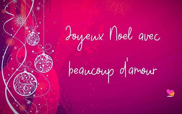 Joyeux Noël avec beaucoup d'amour