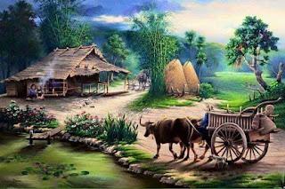suasana desa jaman dahulu