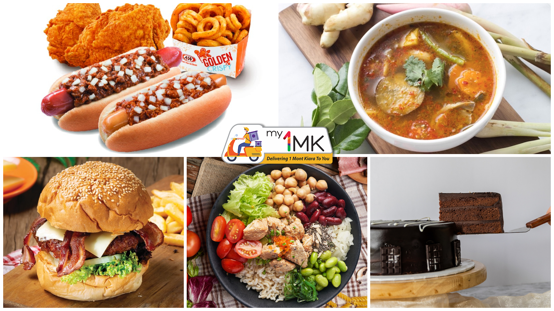 1 Mont Kiara: my1MK Deliveries from PastryVille, Salad Atelier, The Barn, Real Food and A&W