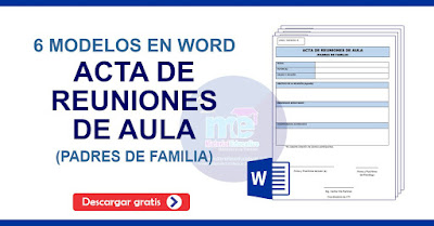 ACTA DE REUNIONES DE AULA PADRES DE FAMILIA