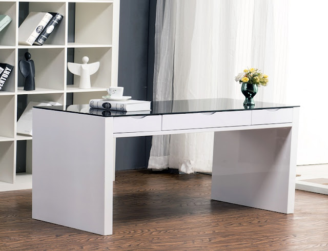 best buy white and glass office furniture desk for sale