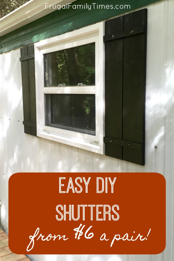 Easy Diy Wood Shutters For Under 10 A Pair Frugal Family