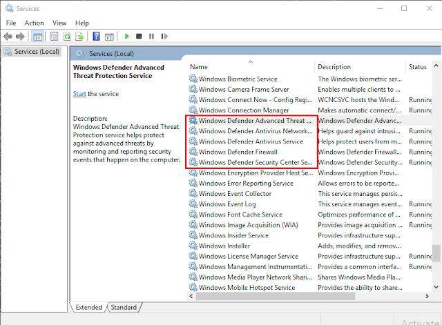 Disable Windows Defender Windows 10 Permanent