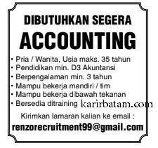 Lowongan Kerja Accounting Lulusan D3 Akuntansi