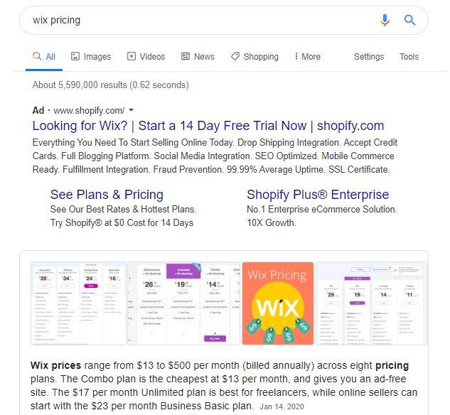 wix website landing page conversion