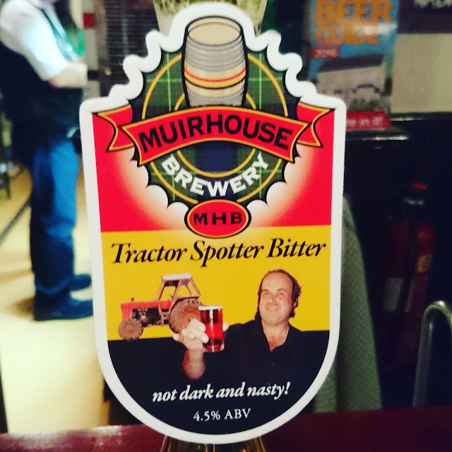 Derbyshire Craft Beer Review: Tractor Spotter from Muirhouse real ale pump clip