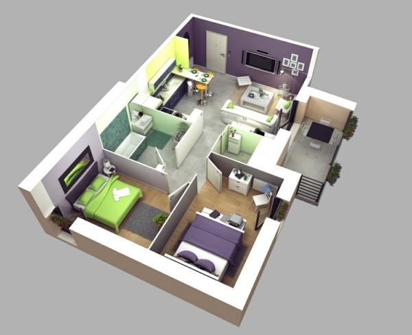 modern 3D floor plan ideas for inspiration