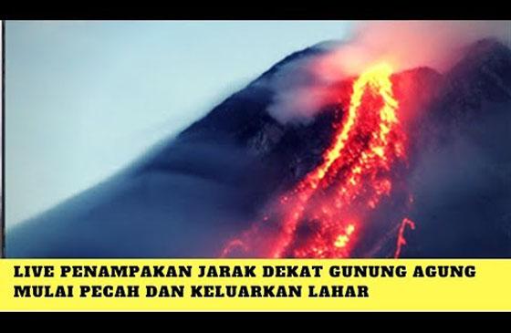 Video Penampakan Pada Detik-Detik Meletusnya Gunung Agung
