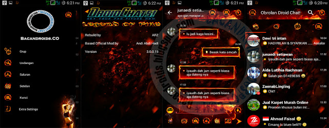 Download BBM Droid Chat Mod v11.0.18 Legend Of Fire Theme Base v3.0.0.18 Apk Terbaru For Android