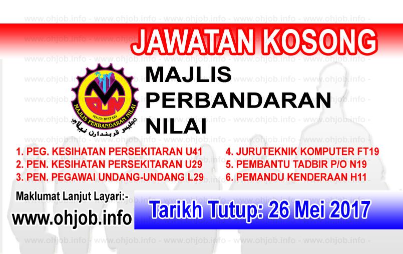 Jawatan Kerja Kosong MPN - Majlis Perbandaran Nilai logo www.ohjob.info mei 2017