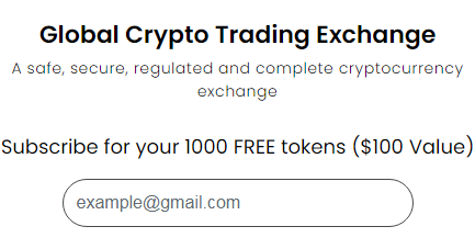 Gratis Bonus Crypto Airdrop Global Crypto Exchange $100